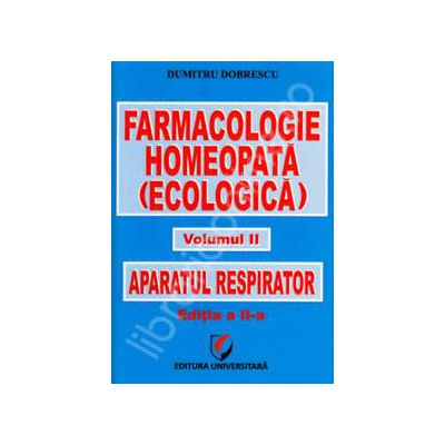 Farmacologie homeopata (ecologica), Volumul 2 - Aparatul respirator