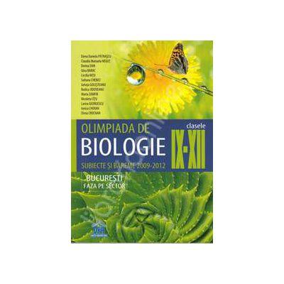Olimpiada de biologie clasele IX-XII. Subiecte si bareme 2009-2012.