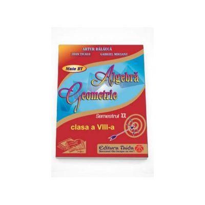 Auxiliar de Algebra si Geometrie pentru clasa a VIII-a, semestrul II