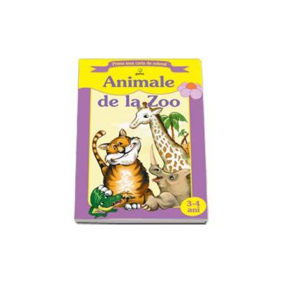 Animale de la zoo (Prima mea carte de colorat)