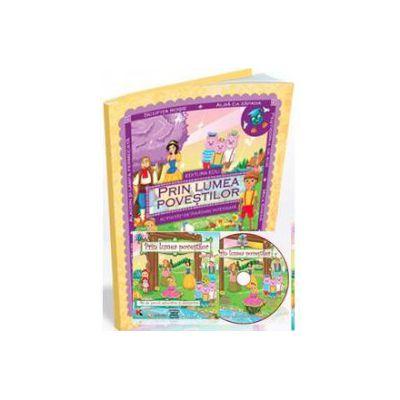EDU Prin lumea povestilor, pentru Grupa mare si Grupa mijlocie (Contine CD cu soft educational)