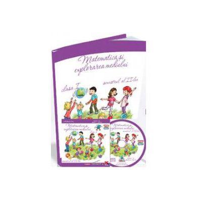 Matematica si explorarea mediului, auxiliar pentru clasa I - Semestrul al II-lea (Contine CD cu soft educational)