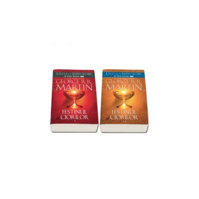 Seria - Cantec de gheata si foc. Festinul ciorilor, Volumul IV (Editie, paperback in 2 Volume)