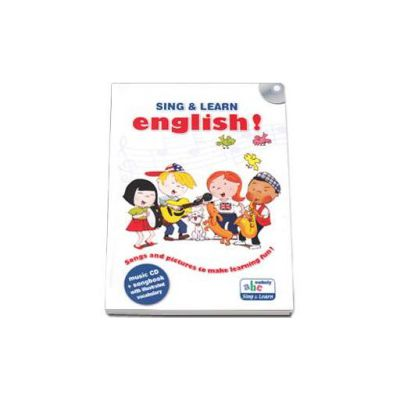 Sing and learn English! - Music CD and songbook with illustrated vocabulary