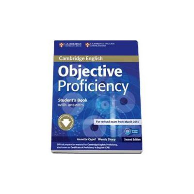 Objective Proficiency 2nd Edition Students Book with answers with. Manual pentru clasa a XII-a (L1)