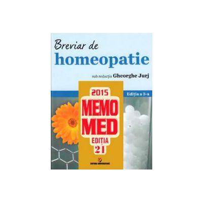 Setul complet al farmacistului. MemoMed 2015 si Breviar de homeopatie. Editia a 3-a