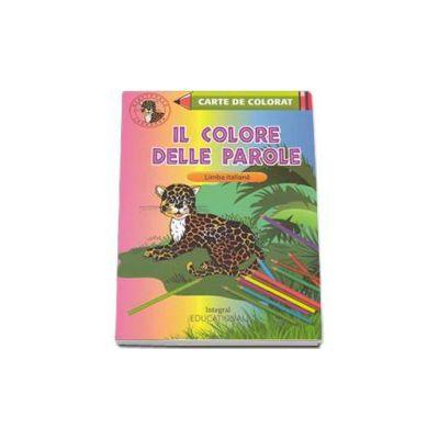 Il colore delle parole. Carte de colorat Limba Italiana