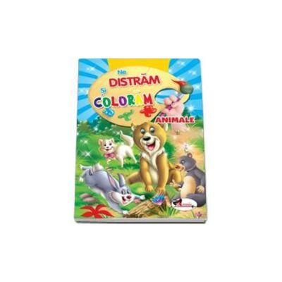 Ne distram si coloram Animale - Carte de colorat