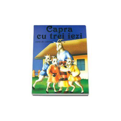 Capra cu trei iezi - Carte de colorat, format 16, 5x23, 5 cm