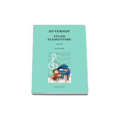 Studii elementare pentru pian - opus 176. Partituri pian si percutie; pian 2 maini