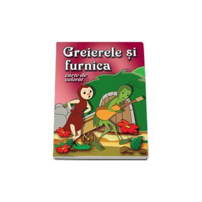Greierele si furnica - Carte de colorat, format 16, 5x23, 5 cm