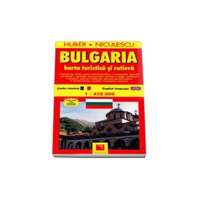 Huber. Harta Bulgaria - Turistica si rutiera (La scara de 1: 428. 000)