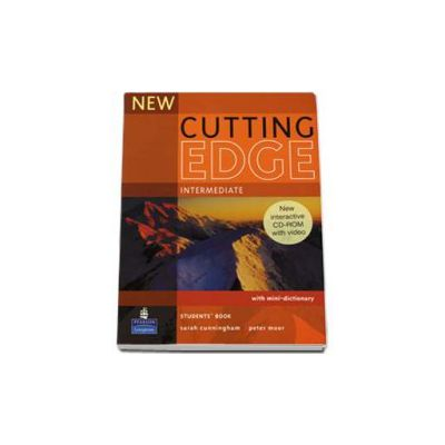 New Cutting Edge Intermediate Studdents Book with mini-dictionary and CD-Rom pack (Sarah Cunningham)