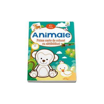 Animale. Prima carte de colorat cu abtibilduri (2-5 ani)