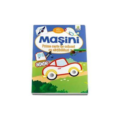 Masini. Prima carte de colorat cu abtibilduri - Varsta recomandata 2-5 ani