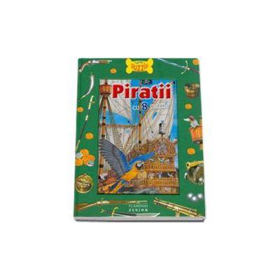 Piratii. Carte cu puzzle - Contine 8 puzzle
