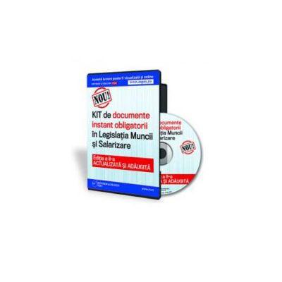 KIT-ul de documente instant obligatorii in Legislatia Muncii si Salarizare - Format CD