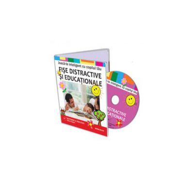 Joaca-te inteligent cu copilul tau. Fise distractive si educationale pentru copii - Format CD