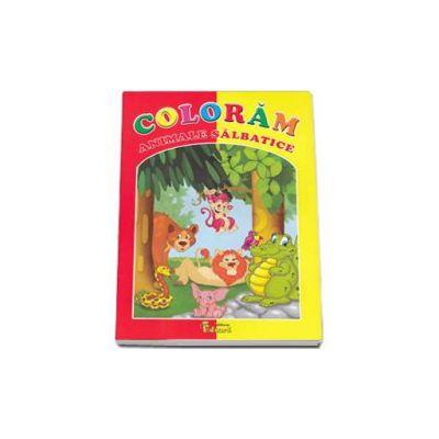 Coloram animale salbatice - Carte de colorat