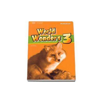 Curs de limba engleza World Wonders level 3 Workbook new editions, caietul elevului pentru clasa a VII-a. National Geographic Learning