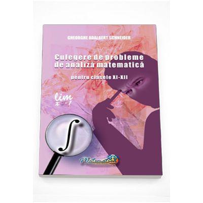 Culegere de probleme de Analiza Matematica pentru clasele XI-XII (Gheorghe Schneider)