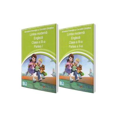 Merry Team. Manual de Limba moderna Engleza, clasa a III-a, partea I si partea a II-a. Contine editia digitala