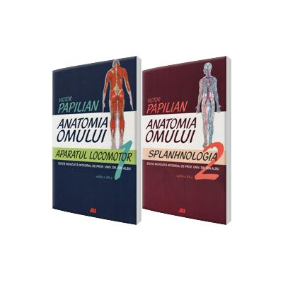 Set Anatomia Omului de Victor Papilian. Volumele 1 si 2 - Aparatul locomotor si Splanhnologia (Victor Papilian)