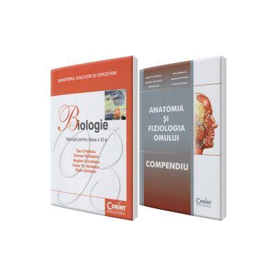 Set, Admitere la Facultatea de Medicina - Anatomia si Fiziologia Omului (Compendiu) si Manual de biologie pentru clasa a XI-a, Dan Cristescu