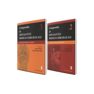 Compendiu de specialitati medico-chirurgicale, pentru concursul national de rezidentiat 2016. Volumul I si II