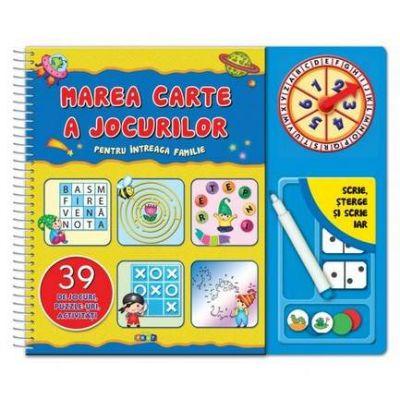 Marea carte a jocurilor pentru intreaga familie. Scrie si sterge - Varsta recomandata 5-7 ani