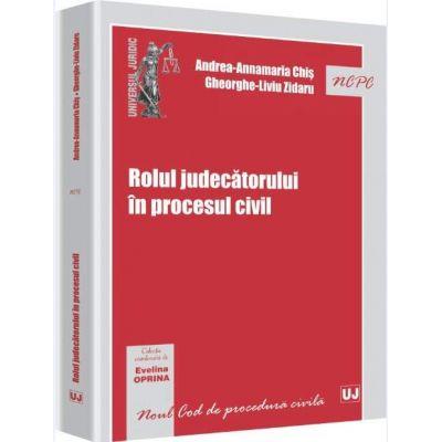 Evelina Oprina, Rolul judecatorului in procesul civil