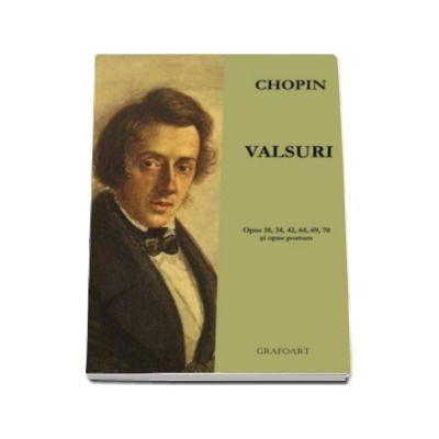 Valsuri pentru pian Fr. Chopin - partituri pian si percutie; pian 2 maini