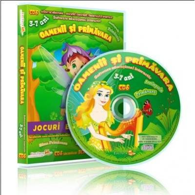 Oamenii si primavara. Jocuri educationale 3-7 ani, CD 6 - Colectia Eduteca