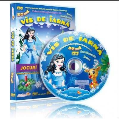 Vis de iarna. Jocuri educationale 3-7 ani, CD 3 - Colectia Eduteca