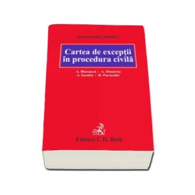 Alexandru Bleoanca, Cartea de exceptii in procedura civila