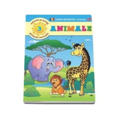 Animale - Coloreaza si invata primele cuvinte in limba engleza