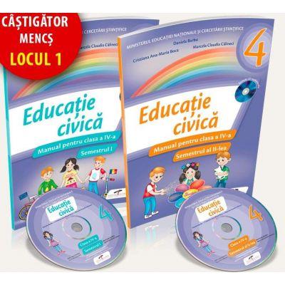Educatie civica. Manual pentru clasa a IV-a - Semestrul I si II - Contine cate un CD pentru fiecare semestru - Daniela Barbu si Cristiana Ana Maria Boca