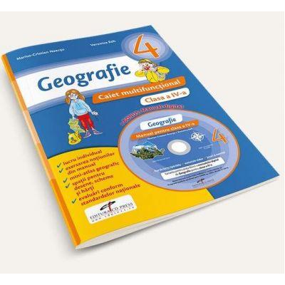 Marius Cristian Neacsu - Geografie, pentru clasa a IV-a. Caiet multifunctional - Contine manual digital pe CD