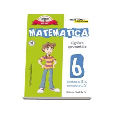 Matematica - CONSOLIDARE (2016 - 2017) - Algebra si Geometrie, pentru clasa a VI-a. Partea II, semestrul II (Colectia mate 2000+)
