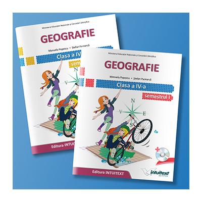 Geografie manual pentru clasa a IV-a, semestrul I si semestrul al II-lea (Contine editia digitala) - Stefan Pacearca si Manuela Popescu