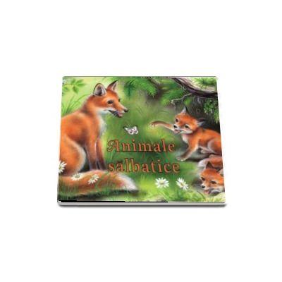 Animale salbatice - pliant cartonat cu iustratii color