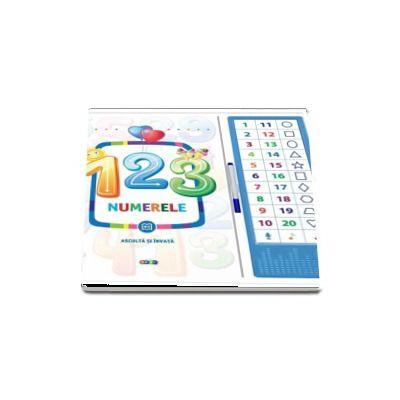 123 Numerele - Asculta si invata - 33 de butonase cu sunete (Varsta recomandata 4-6 ani)
