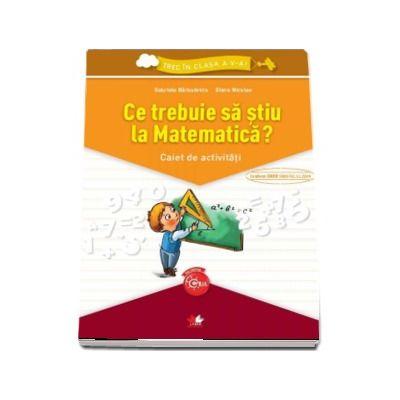 Gabriela Barbulescu, Ce trebuie sa stiu la Matematica? Caiet de activitati