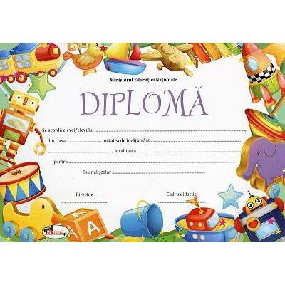 Diploma - Format A4, model imagine jucarii