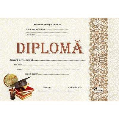 Diploma - Format A4, model imagine toca