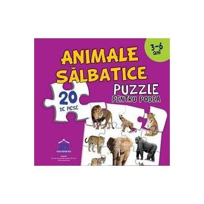 Animale salbatice - Puzzle pentru podea cu 20 de piese - Varsta recomandata 3-6 ani