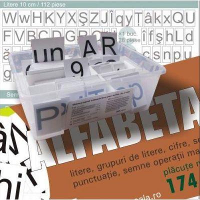 Alfabetar magnetic pentru clasa - 174 piese
