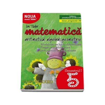 Ion Tudor, Matematica 2000. Aritmetica, algebra, geometrie. Caiet de lucru, pentru clasa a V-a. Semestrul I (Initiere, ameliorare si dezvoltare)