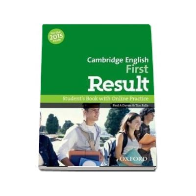 Cambridge English. First Result. Student s Book with Online Practice - For the 2015 exam