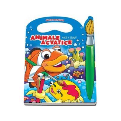 Animale acvatice. Carte de colorat - Colectia Culori Fermecate